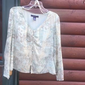 Jones New York long sleeve blouse